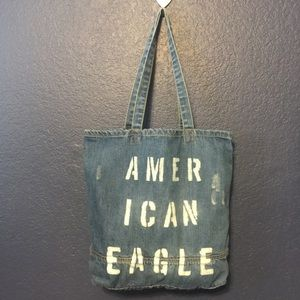 AMERICAN EAGLE OUTFITTERS Denim Distress Tote Bag